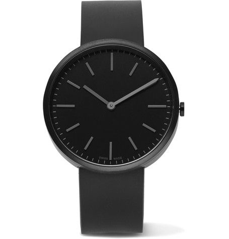 UNIFORM WARES M37 PVD-COATED STAINLESS STEEL AND RUBBER WATCH. #uniformwares #