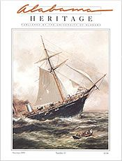 Alabama Heritage Issue 37, Summer 1995. On the cover: Detail from Xanthus Smith's 1876 painting of the historic sea battle between CSS Alabama and USS Kearsarge. (Courtesy AmSouth Bank, Mobile)