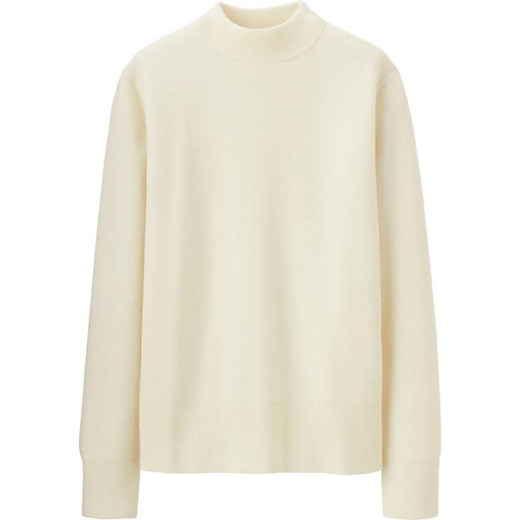 MEN LEMAIRE MERINO BLENDED MOCK NECK SWEATER | UNIQLO