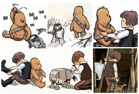 Christopher Solo and Chewie the Pooh