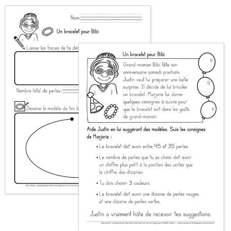 Fichier PDF téléchargeable En noir et blanc seulement 2 pages Les élèves dessinent un modèle de bracelet en respectant les critères donnés. Une feuille de mise en situation et une feuille pour la démarche.