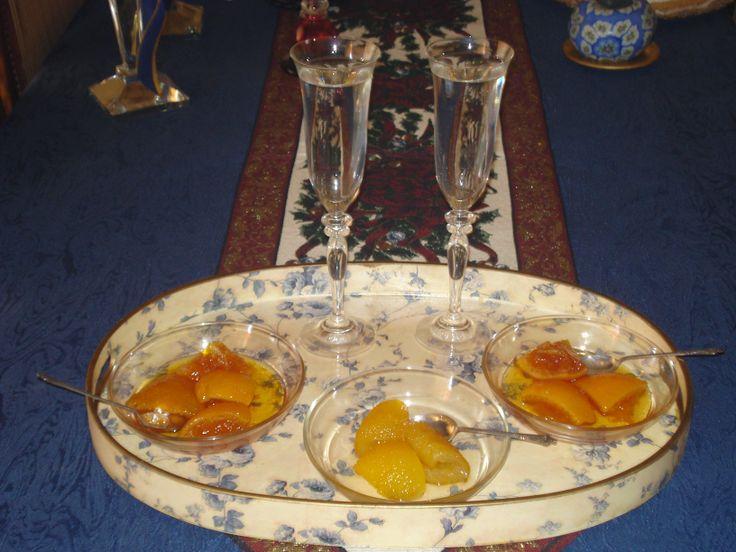 γλυκό του κουταλιού μυρωδάτο .... πορτοκάλι και κιτρολέμονο ..... @pezoula_paros