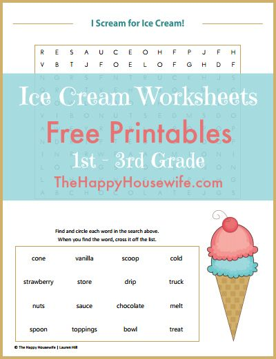 ice cream worksheets free printables homeschool free printables and the o 39 jays. Black Bedroom Furniture Sets. Home Design Ideas