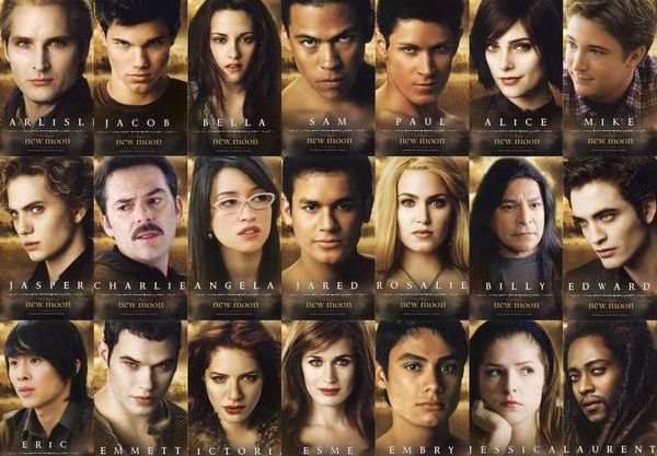 "The Twilight Cast.  ""Is Bella a zero? Or a hero?"""