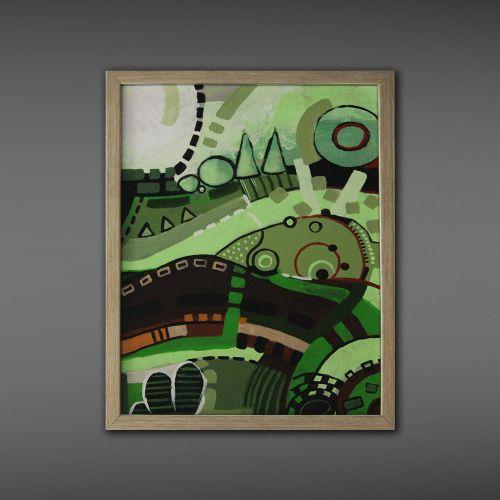 Abstract painting, Anna Lipowska, 50x40cm, acrylic on canvas