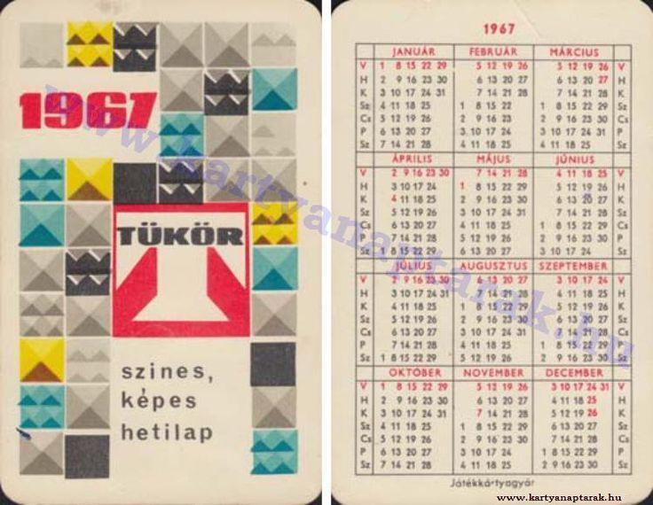 1967 - 1967_0122 - Régi magyar kártyanaptárak
