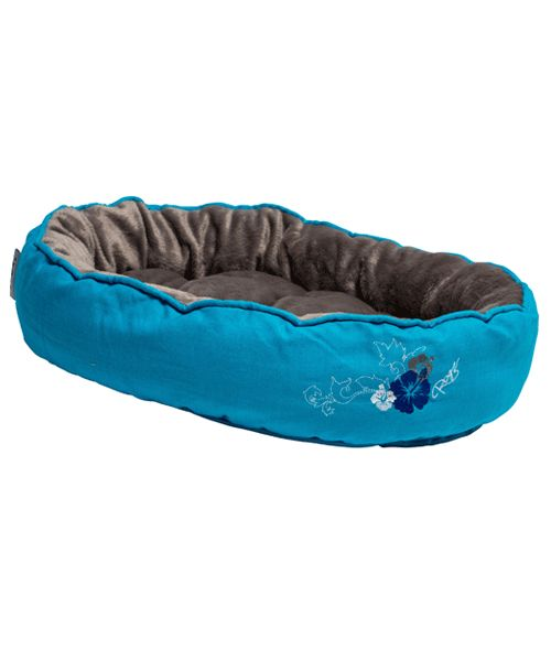 ROGZ SNUG PODZ - BLUE FLORAL (CAT BED). Available from www.nuzzle.co.za