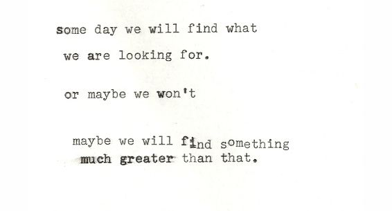 something greater...