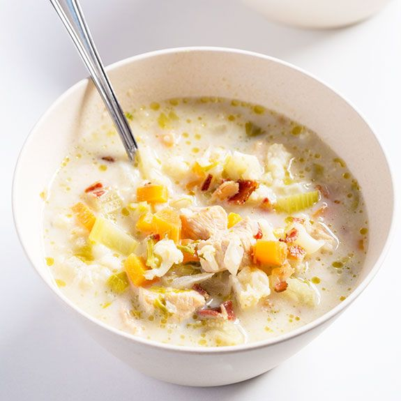 I love cauliflower. I love it mashed. I love it roasted. I love it raw. I love how versatile it is and I think it's pretty cute too, as far as veggies go. So there's no surprise that I love Paleo dishes that use cauliflower, like this recipe for slow-cooked cauliflower chicken chowder. You've...