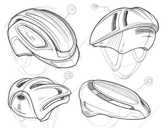 Jeff Smith, helmet, lines