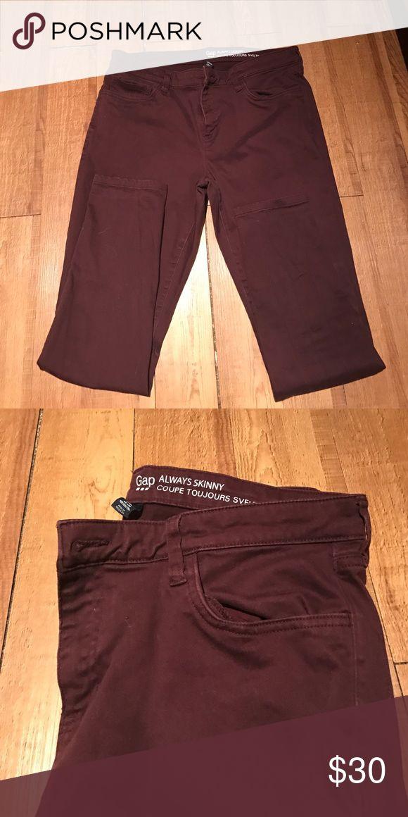 Women's Gap plum pants Always skinny fit. GAP Pants Skinny