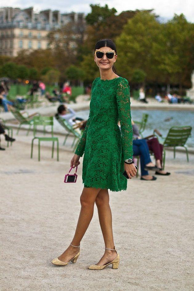 Vestido verde Mango