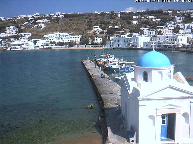 I highly recommend you visit Greece, it's beautiful. (click image to view the live webcam) www.truelookcams.com