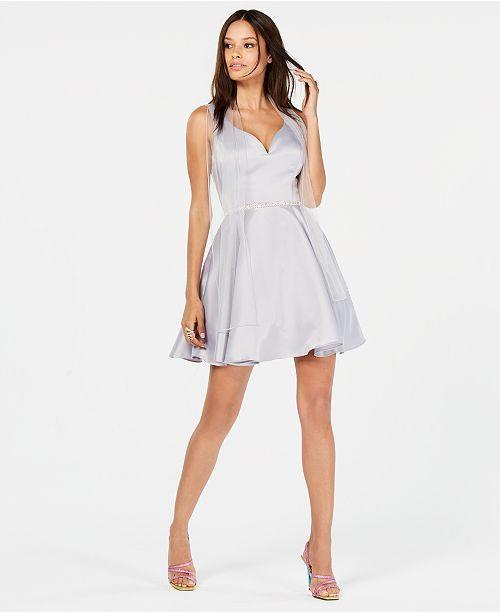 d7379dc8 main image Silver Dress, White Dress, Junior Dresses, Fit Flare Dress,  Dresses