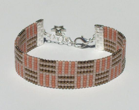 Bead loom bracelet with Miyuki Delica beads Mauze by ByKasa