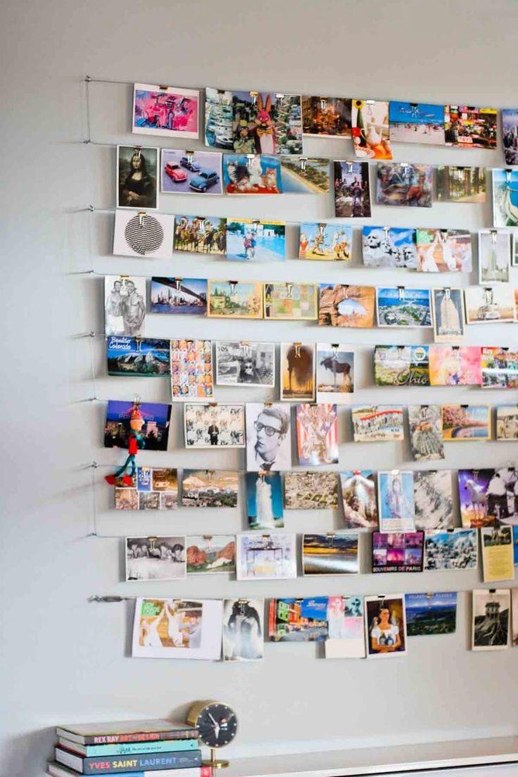 Как повесить открытки