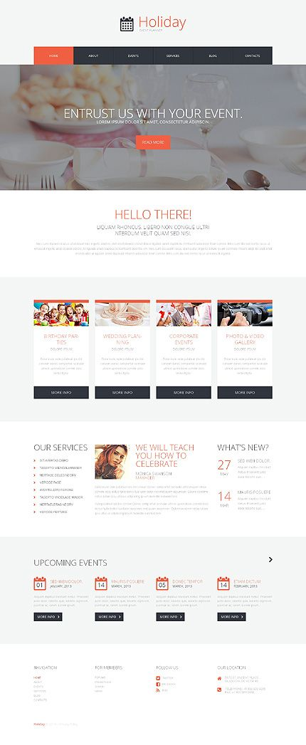 Template 50491 - Holiday Events  Responsive WordPress  Theme