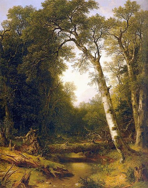 Asher B. Durand, A Stream in the Wood, 1865