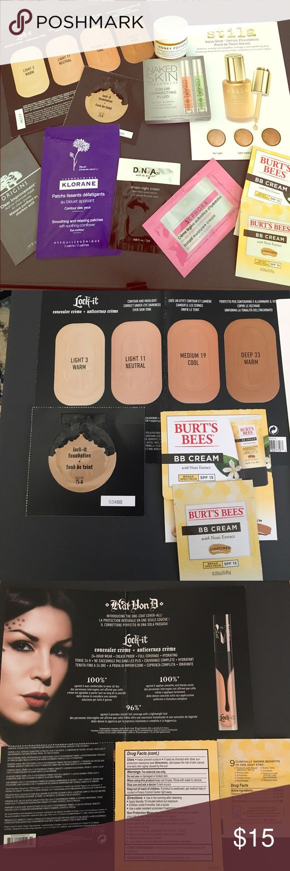 Foundation & skin care bundle! UD naked, Kat Von D Everything for beautiful skin! All brand new, never used skin care samples! Includes: Urban Decay Naked Skin Color Correcting Fluid, KAT VON D Lock-It Foundation & concealer, DR. BRANDT SKINCARE Do Not Age Dream Night Cream, FARMACY Honey Potion Renewing Antioxidant Hydration Mask with Echinacea GreenEnvy, & more!!! See photos for more details. Includes everything pictured, feel free to ask questions! Urban Decay Makeup Foundation