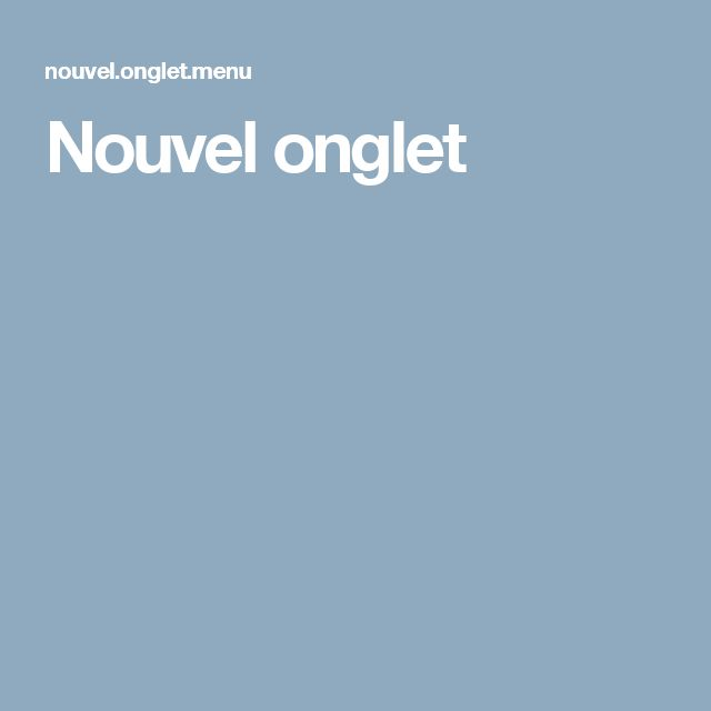 Nouvel onglet