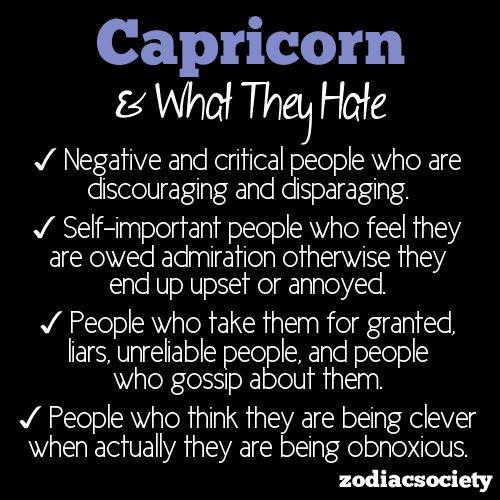 Capricorn man dislikes