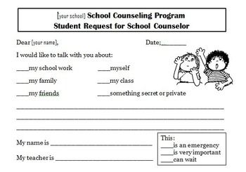 Student Request for School Counseling Referral Form FREEBIE on TPT -made by Confessions of a School Counselor