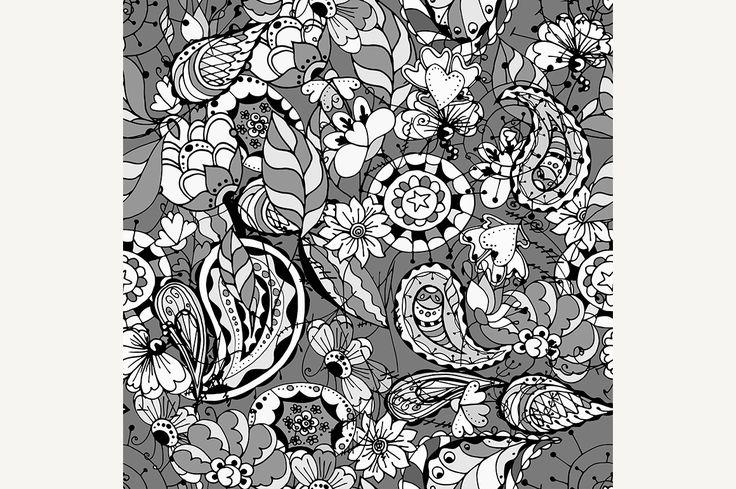 vintage floral pattern by frescomovie on @creativemarket