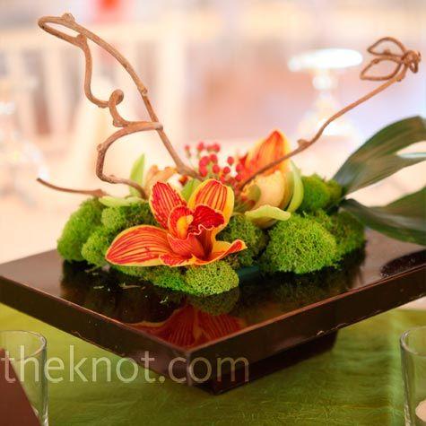 Gorgeous!Orchids Centerpieces, Centerpieces Ideas, White Flower, Simple Centerpieces, Modern Flower Arrangements, Modern Orchids, Wedding Photos, Orange Orchids, Modern Floral Centerpieces