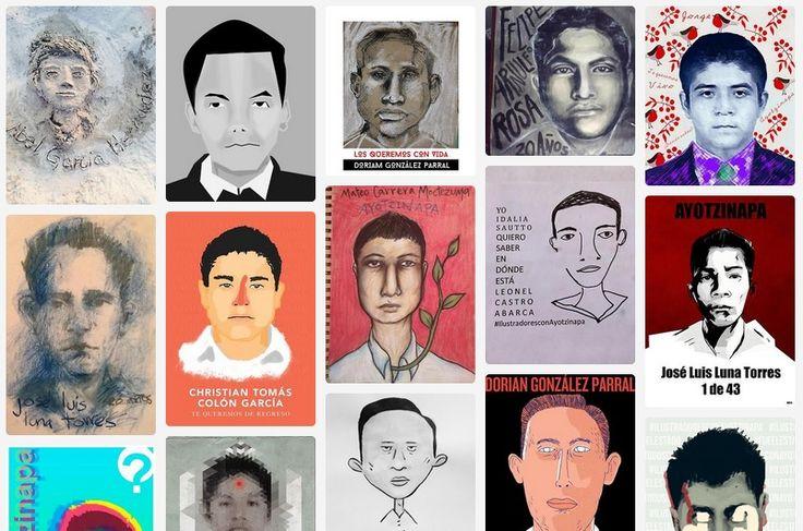 """""""Nosotros, los ilustradores mexicanos, queremos saber dónde están los 43 normalistas desaparecidos"""""""