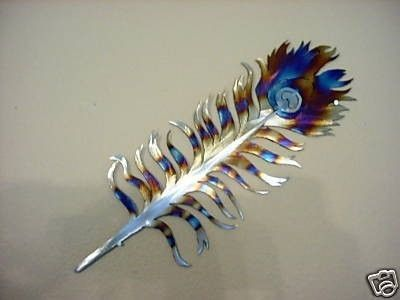 Hey, I found this really awesome Etsy listing at http://www.etsy.com/listing/33480279/peacock-feather-steel-metal-wall-art