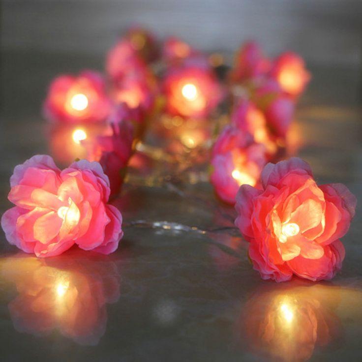 DIY цветочные гирлянды с светом сид для свадьбы украшения и день святого валентина цветочный подарок, 1,2, 3,4 м варианткупить в магазине visual shoppingнаAliExpress
