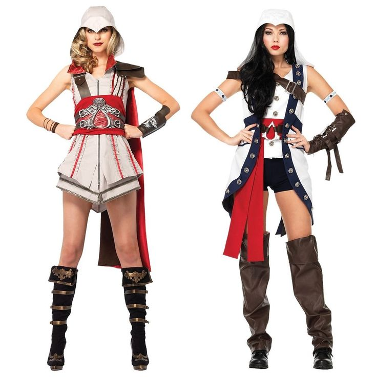 Female Assassins Creed Costume Adult Womens Sexy Cosplay Halloween Fancy Dress #LegAvenueInc (I'd wear it with Leggings)