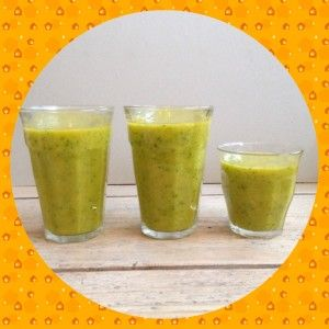 Groene smoothie als ontbijt