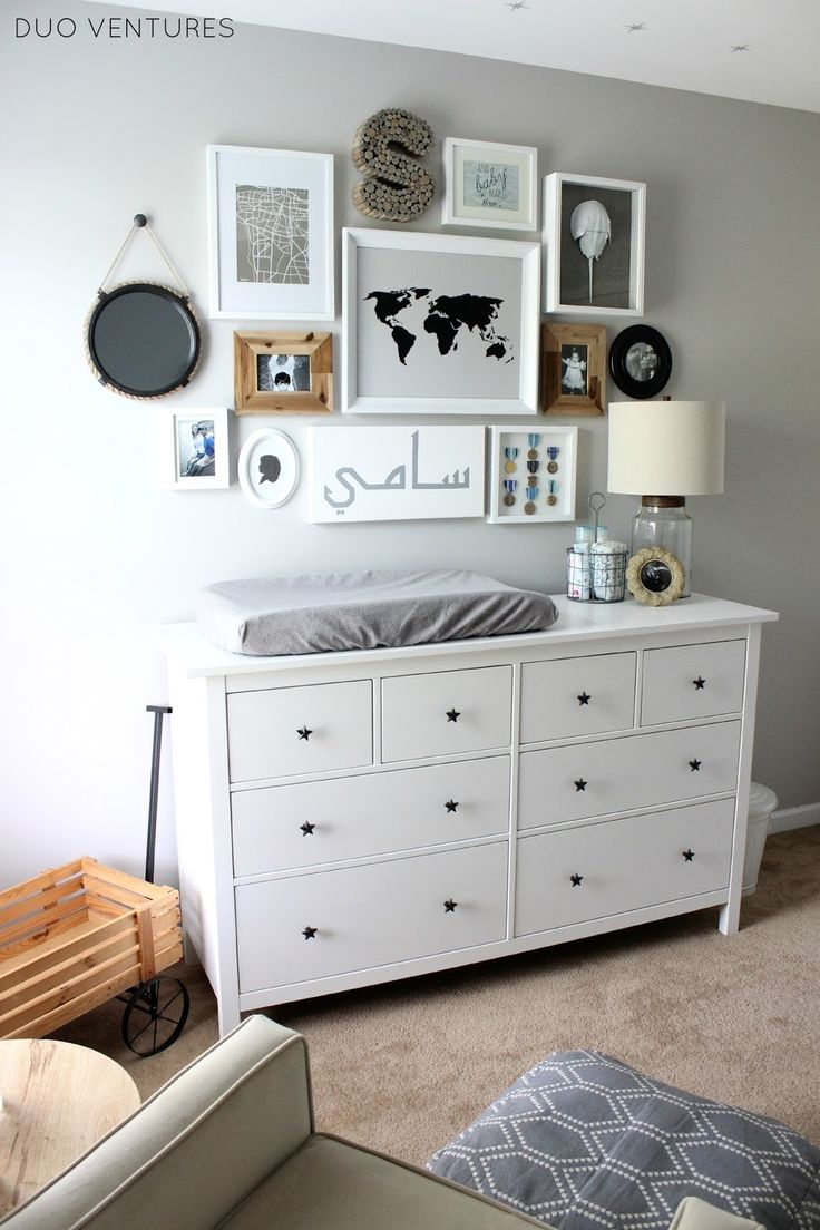 IKEA HEMNES Dresser Star Pulls Custom Changing Table