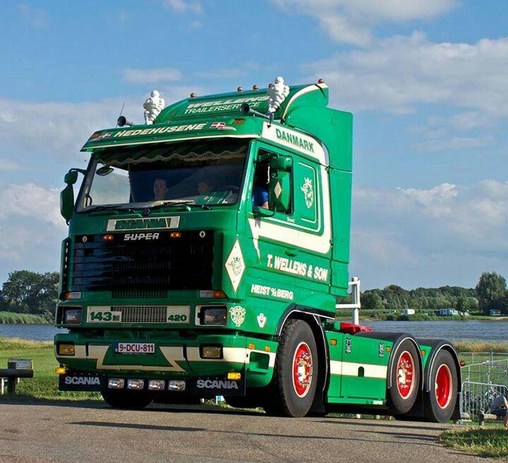 scania 143m 420 scania trucks sweden pinterest