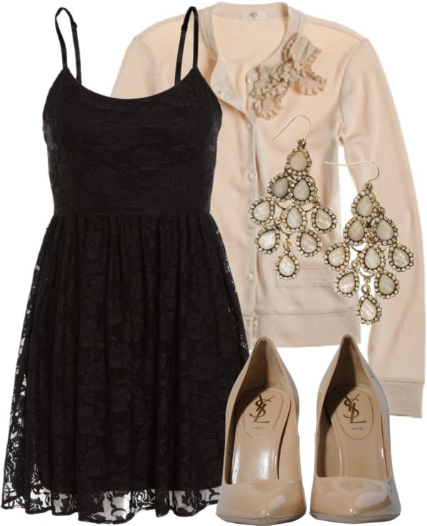 """""""Black & Nude"""" by qtpiekelso on Polyvore"""