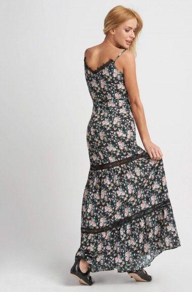 Dlhé kvetinové šaty na ramienka   ORSAY