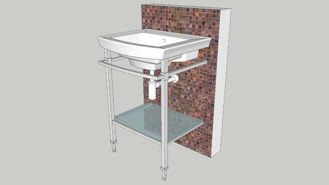 Large preview of 3D Model of  Console Lavatory Kit
