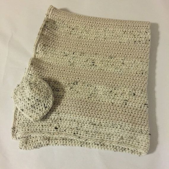 Car Seat Blanket - Cream Baby Blanket and Beanie Set