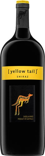 Yellow Tail Shiraz: With ripe cherries and strawberries, spice and vanilla aromas, this bold Shiraz wine is well balanced, with earthy tones and lingering fruit on the tongue.  According to the winemaker's notes, it pairs nicely with pork chops or tenderloin, cured salami, a bacon cheeseburger and gruyere or blue cheese.