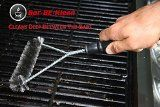 Heavy Duty Wire Grill Brush with Stainless Steel Bristles - Heavy Duty Grill Brush for Porcelain Coated Grills, Stainless Steel Grates