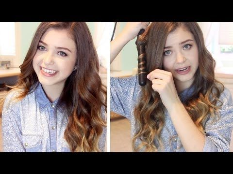 ▶ How I Curl my Hair: Loose Wavy Curls   lindseyrem - YouTube