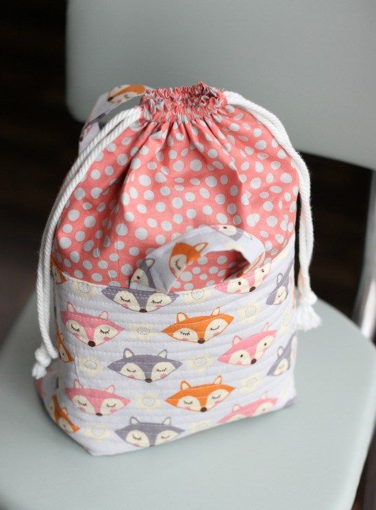 Quality Sewing Tutorials: Fabric Drawstring Basket tutorial from Gluesticks