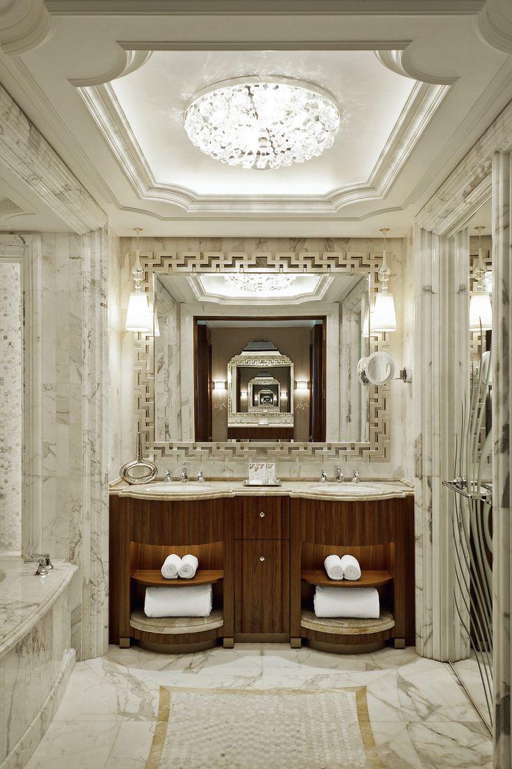 Luxury hotel bathroom designs - The St Regis Abu Dhabi Guest Bathroom Hotel Bathroom Designhotel Bathroomsluxury