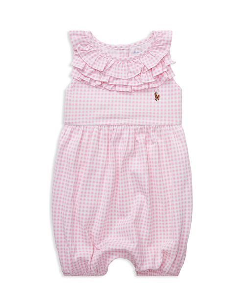 a2d90d84 Girls' Ruffled Gingham Cotton Romper - Baby in 2019   Smash cake 1st ...