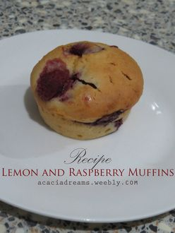 Check the blog for my latest recipe, lemon and raspberry muffins!