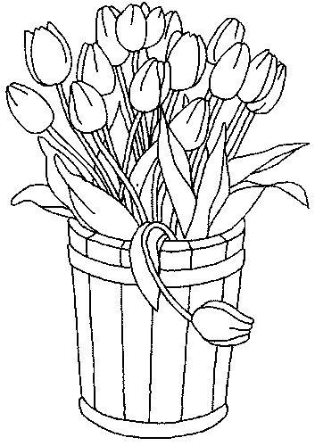 Barrel of tulips