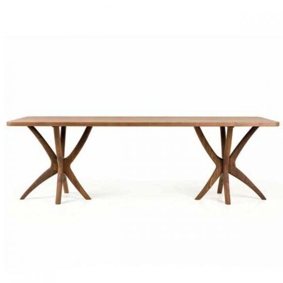 SCRUB DINING TABLE - AUTOBAN at Spence & Lyda #spenceandlyda #autoban #australia #sydney #table #blackwalnut #whiteoak  #dining #design