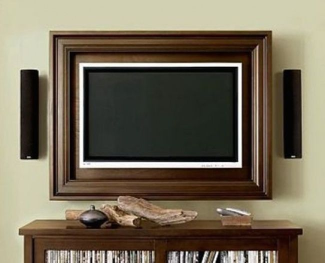 Try putting flat-screen TVs in picture frames; it's easy to do, and looks very stylish.