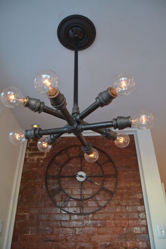 Ceiling Sputnik fixture Steampunk Light by WestNinthVintage